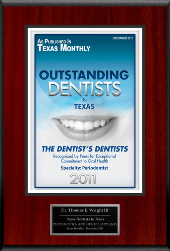 """Thomas E. Wright III Selected For """"Outstanding Dentists In Texas.""""  (PRNewsFoto/American Registry)"""