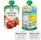 GERBER (R) Organic 2ND FOODS(R) Pouches - Carrots, Apples & Mangoes