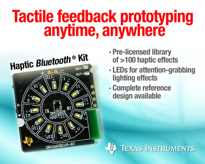 Tactile feedback prototyping anytime, anywhere