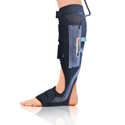 Sara was fit with the Wearable Therapy BioSleeve for the lower leg