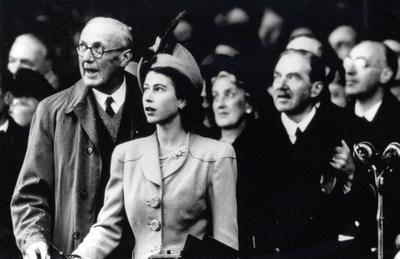 Launch of Caronia - Thursday, October 30, 1947 / Photo Credit: Cunard