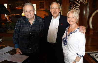 Pictured from left: Lacy Harber, John Massey and Dorothy Harber