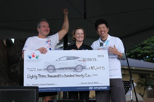 Hyundai Hope On Wheels Launches Its 2013 5K Run/Walk Series On Maui And Presents Kapi'olani Medical