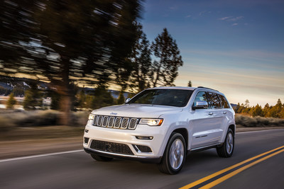2017 Jeep Grand Cherokee 4x4 earned five-star rating in each of three distinct crash tests