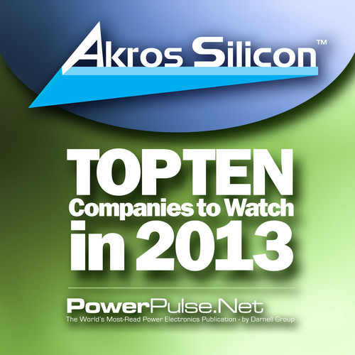 Akros Silicon - Top Ten Companies to Watch in 2013.  (PRNewsFoto/Akros Silicon Inc.)