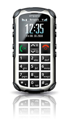 emporiaSOLIDplus is a rugged phone for those who work or play outdoors.  (PRNewsFoto/emporia Telecom)