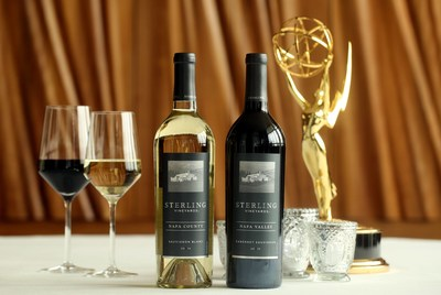 2014 Sterling Vineyards' Sauvignon Blanc and Cabernet Sauvignon selected as official wines of the 68th Emmys. Image Source: Sterling Vineyards