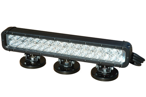 The LEDLB-32E-IR-M-110V infrared LED light bar from Magnalight produces light in the infrared 750Nm, 850Nm or 940Nm end of the light spectrum depending upon the version selected. 32 Edison Edixeon(R) 3 watt infrared emitters are arranged in rows and paired with high purity 10 degree optics to produce a tightly focused infrared spot beam 1,110' long by 160' wide with limited spread or light spillage. We offer optional floodlight versions of this light that have 35 degree optics to produce a wider beam spread and more infrared light over  ...