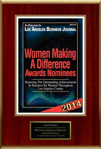 "Lisa Detanna at Raymond James Selected For ""2014 Women Making A Difference Awards Nominees"" (PRNewsFoto/American Registry)"