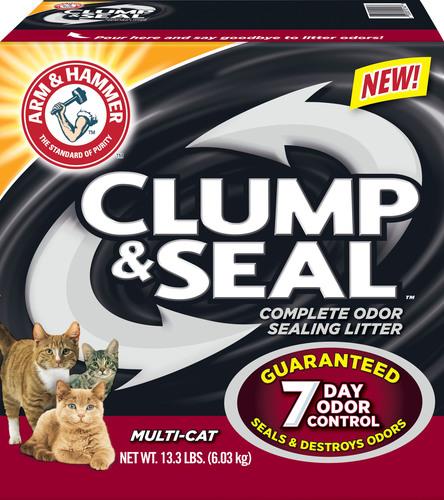 ARM & HAMMER(TM) Clump & Seal(TM) Cat Litter, Multi-Cat. (PRNewsFoto/Church & Dwight Co., Inc.) ...