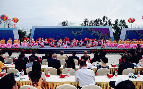 The 1st Sichuan International Travel Expo was grandly opened in Emeishan, Sichuan, China (PRNewsFoto/Tourism ...
