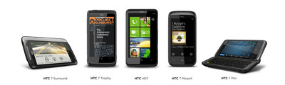 HTC releases five Windows Phone 7 devices today in New York City.  (PRNewsFoto/HTC Corporation)