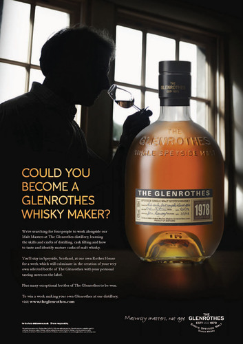 The Glenrothes® Offers the Opportunity of a Lifetime: Could You Become a Glenrothes Whisky Maker?