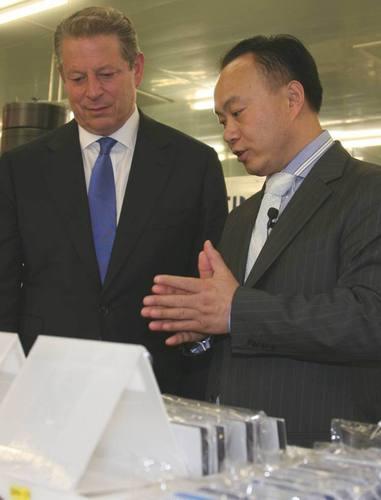 Al Gore Commemorates Launch of Suntech Low Carbon Concept Museum