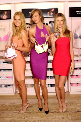 Victoria's Secret Angels Erin Heatherton, Karlie Kloss and Behati Prinsloo Celebrate New Body by Victoria Collection and Victoria fragrance.  (PRNewsFoto/Victoria's Secret)