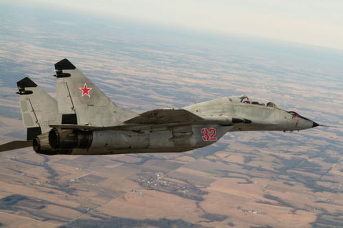 First Flight in the World of a Privately Owned MiG-29 Fulcrum by Air USA in Quincy, Illinois;
