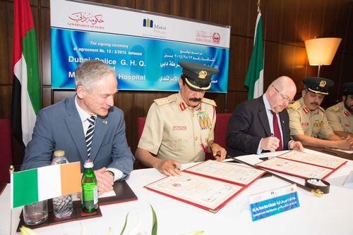 Minister Bruton announces Mater Private Healthcare Group agreement with Dubai Police. (PRNewsFoto/Mater Private)