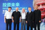 A group photo of Jim Rogers, MANOR VIRTUOUS owner Zhou Qing and Wu Desheng at the event (PRNewsFoto/MANOR VIRTUOUS)