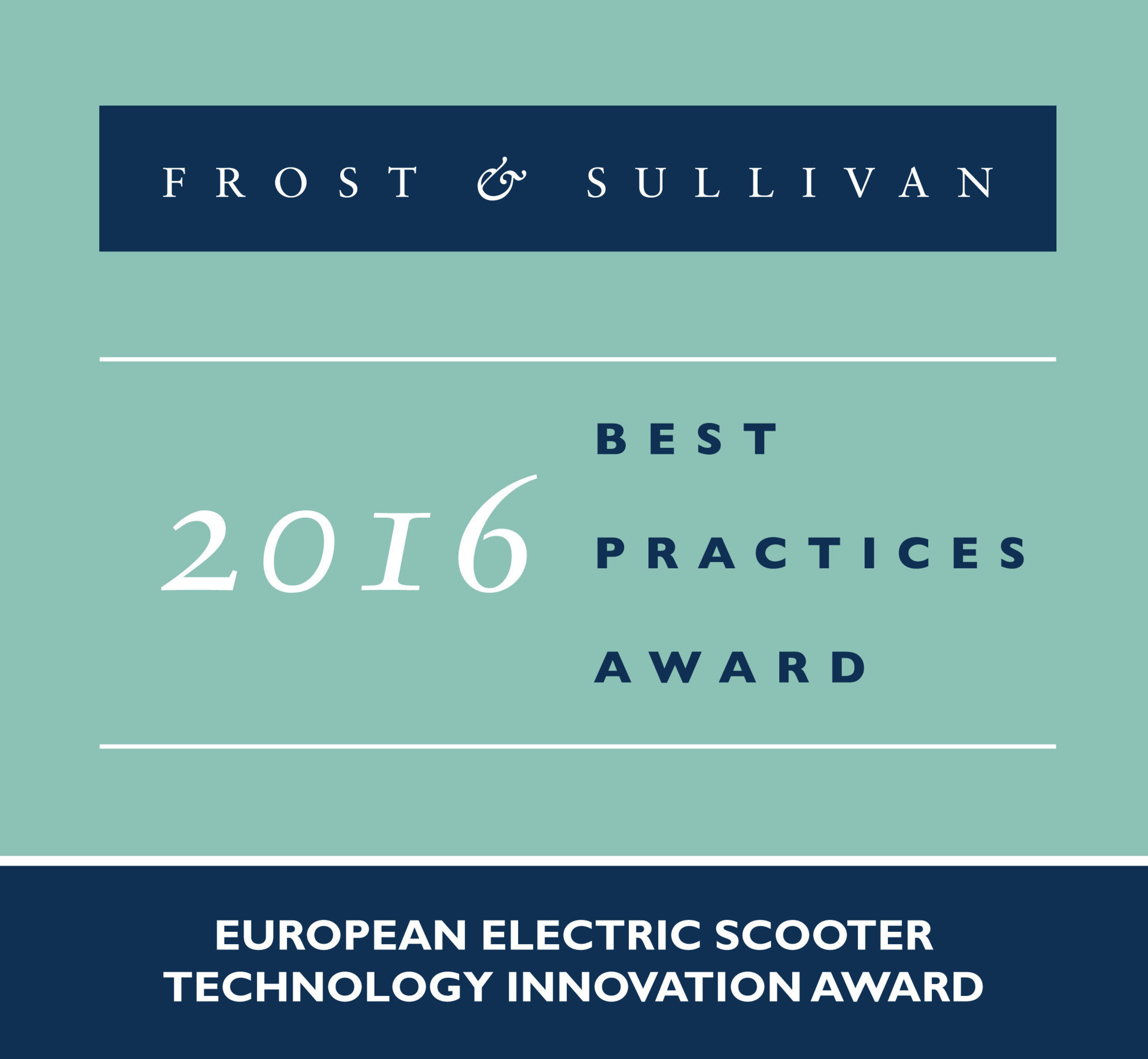 Gogoro is honored with Frost & Sullivan's 2016 European Technology Innovation Award