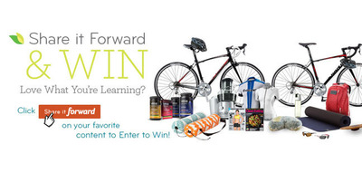 Share Thrive Forward to enter for the chance to win prize packages from leading health and fitness brands, totaling $25,000 worth in prizes.