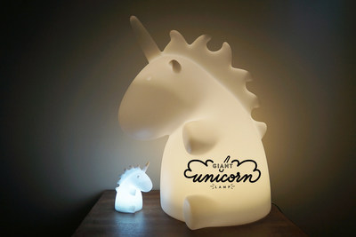 It glows a soft-light and has a unicorn multi color mode.