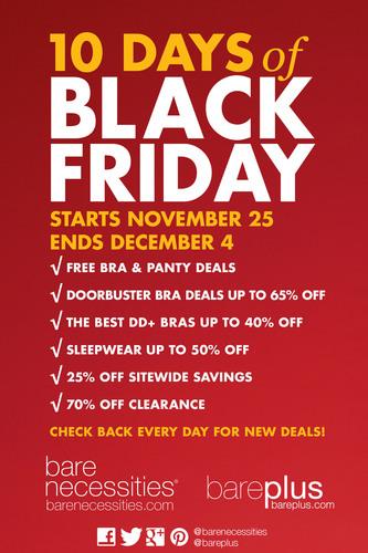 Bare Necessities Hosts 10 Days of Black Friday.  (PRNewsFoto/Bare Necessities)
