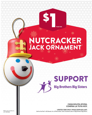 Nutcracker Jack Marches into Jack in the Box(R) for Holiday Fundraiser; Sale of Holiday ornament Raises Money and Awareness for Big Brothers Big Sisters.  (PRNewsFoto/Big Brothers Big Sisters)