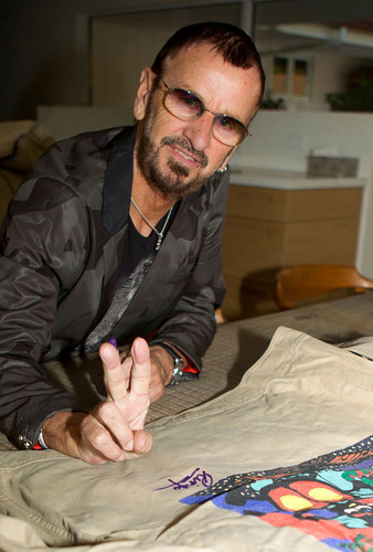 Ringo Starr autographed jackets to benefit WaterAid on #GivingTuesday