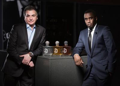 "Sean ""Diddy"" Combs and Larry Schwartz President, North America Diageo plc. (PRNewsFoto/Diageo) (PRNewsFoto/DIAGEO)"