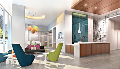 Modern, functional lobby area