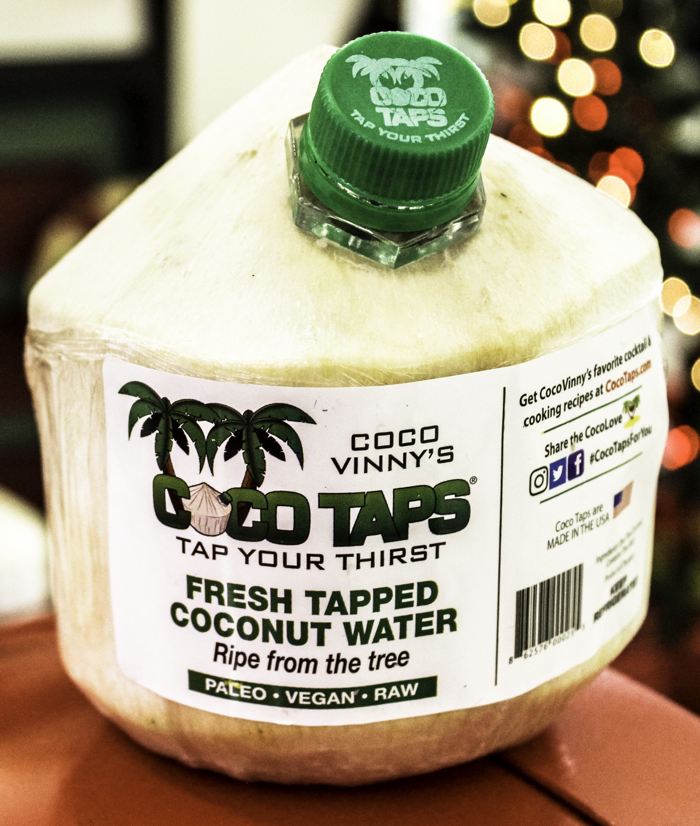 Coco Taps fresh-tapped coconuts are available in select Whole Food Market stores. Drinking fresh coconut water directly from the coconut delivers great taste and nutrients.