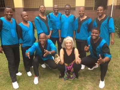 "Jennifer Saran and Ladysmith Black Mambazo collaborating in South Africa on Saran's new single ""Wake Up"" - an inspiring new world peace anthem"
