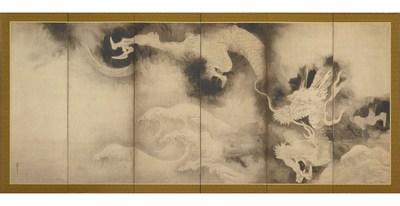 Tawaraya Sotatsu - Dragons and Clouds