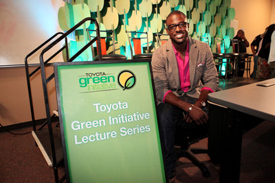 "Actor and Toyota Green Initiative Coalition Member Lance Gross at the ""Toyota Green Initiative Tour"" Launch at Winston Salem State University.  (PRNewsFoto/Toyota)"