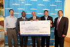 Hyundai Motor America executives, joined by Long Beach community leaders, present a $25,000 check to the Museum of Latin American Art on Thursday, January 24th in Long Beach, California. (PRNewsFoto/Hyundai Motor America)