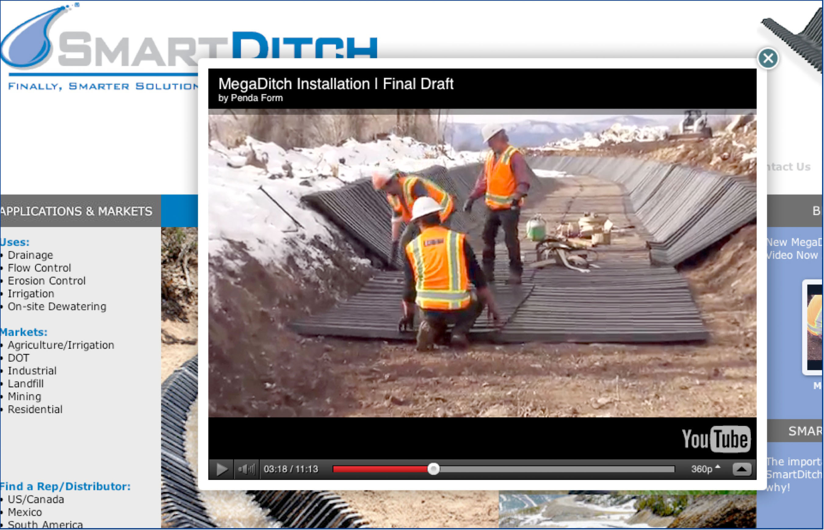 The new SmartDitch MegaDitch Installation Guidelines video can be viewed directly from the company website: www.smartditch.com/resource-videos.html.  (PRNewsFoto/PendaForm)