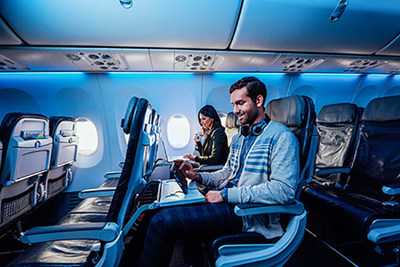 Alaska Airlines New Premium Class Section Available For