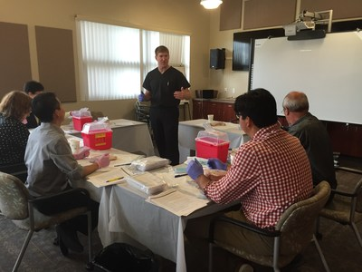 Master Trainer Dr. Matt Torrington of the UCLA Integrated Substance Abuse Programs works closely with qualified healthcare providers to teach them best practices for insertion and removal of the Probuphine implant, a new treatment option for opioid dependence.
