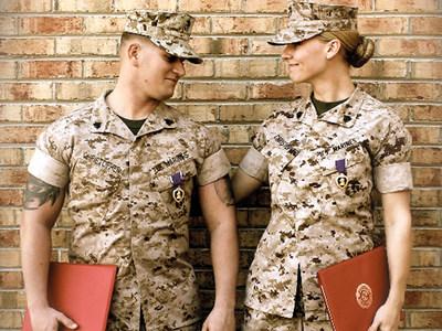 Veteran Marine Sweethearts Benjamin and Samantha Christopher