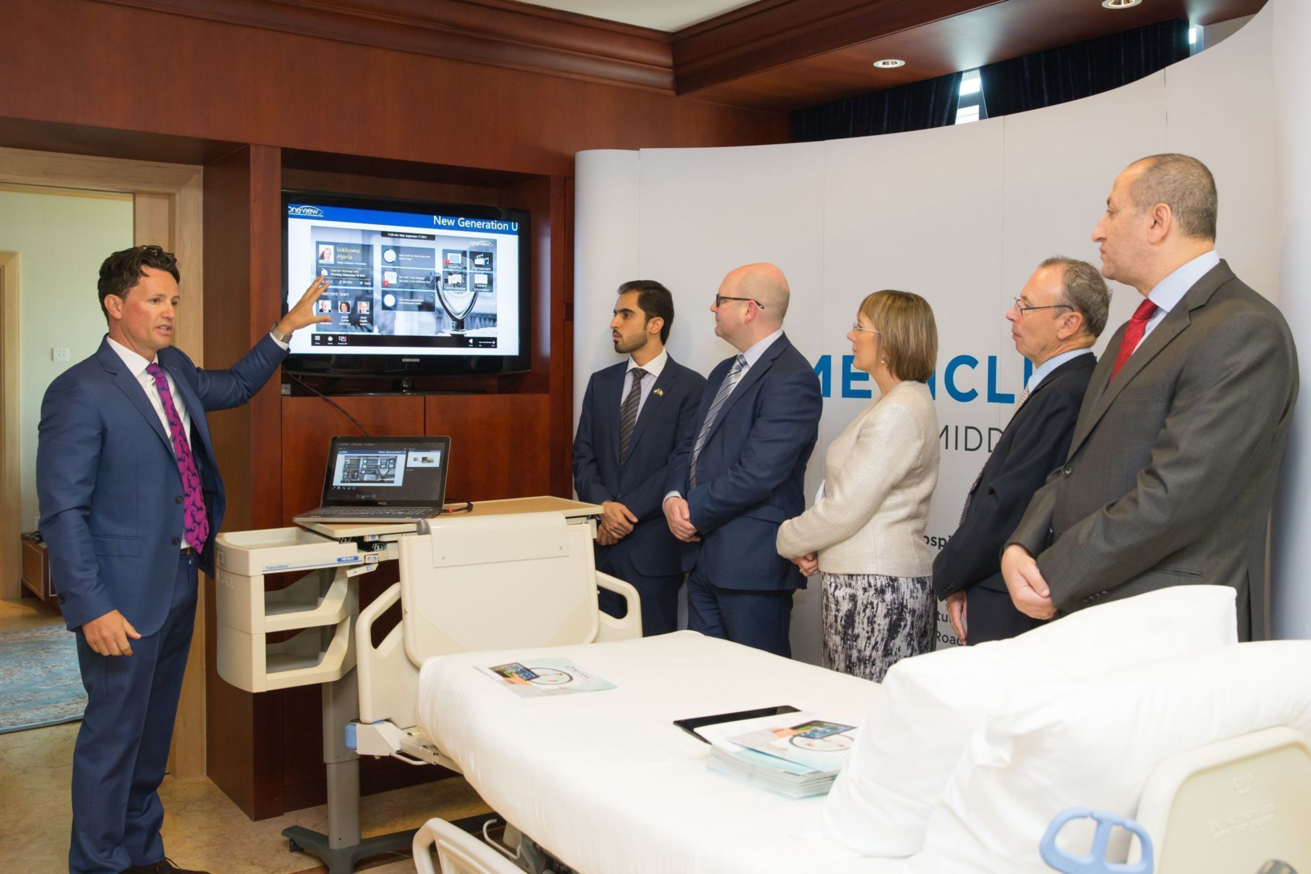 Oneviewâeuro(TM)s Patient Engagement and Clinical Workflow Solution is being deployed at Mediclinic City Hospital and Mediclinic Welcare Hospital (PRNewsFoto/Oneview Healthcare)