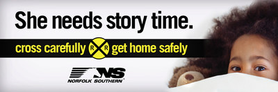 This Norfolk Southern public safety campaign billboard reminds motorists that their families and loved ones depend on them to return home safely.