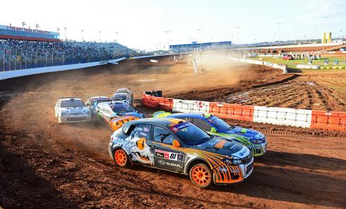 Subaru PUMA RallyCross Team Shows Impressive Speed, Endures Chaos at Charlotte