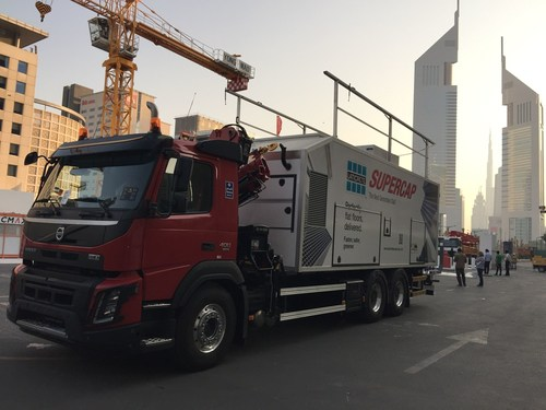 LATICRETE Launches its First Pump Truck: SUPERCAP (PRNewsFoto/LATICRETE MIDDLE EAST)