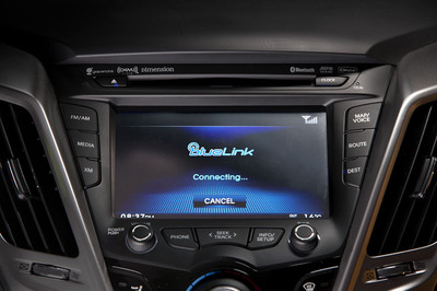 Hyundai will demo its Blue Link(R) platform along with next-generation concepts and infotainment systems at CES.  (PRNewsFoto/Hyundai Motor America)