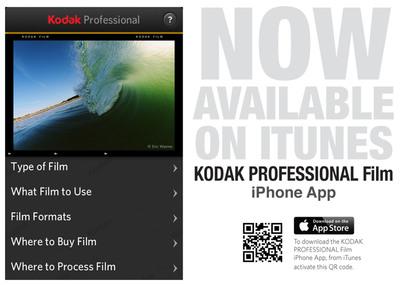 """Eastman Kodak Company released its new """"KODAK PROFESSIONAL Film App"""" at PhotoPlus 2012.  (PRNewsFoto/Kodak)"""