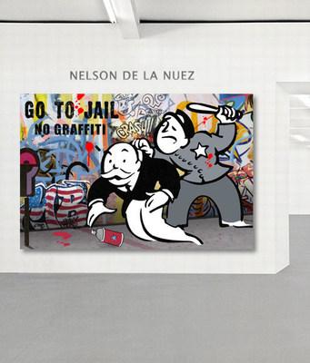 """Graffiti is Not Art:"" Hand Painted 1 of a Kind on Canvas, King of Pop Art Nelson De La Nuez"