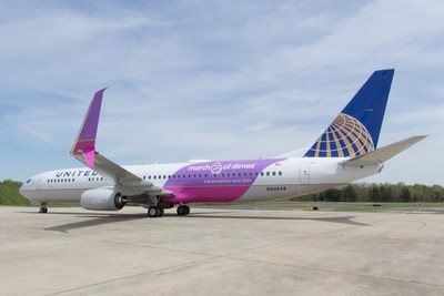 United's March of Dimes commemorative aircraft, FAA N registration #66848.