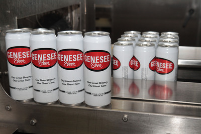 Rexam recently produced its 100-millionth 24 oz. can for The Genesee Brewery.  (PRNewsFoto/Rexam)