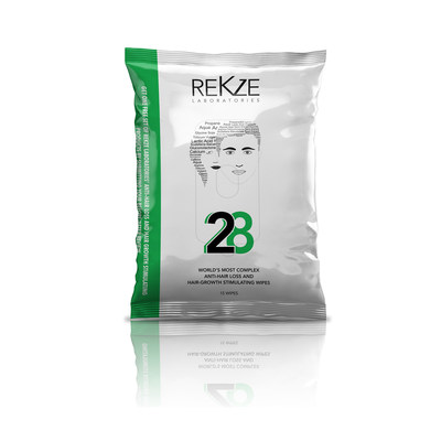 '28' scalp wipes designed to cleanse the scalp and create the optimal conditions for hair growth