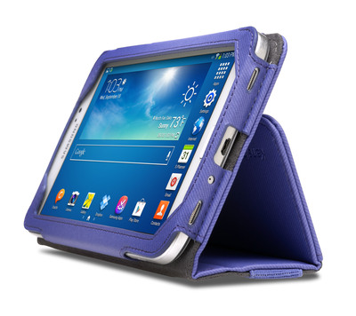Kensington Portafolio(TM) Soft Folio Case for Samsung(R) Galaxy Tab(TM) 3 7.0 and 8.0.  (PRNewsFoto/Kensington)